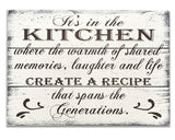 kitchen wood sign wall decor where memories are made