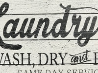 Laundry Co Wash Dry And Fold Wood Laundry Room Art