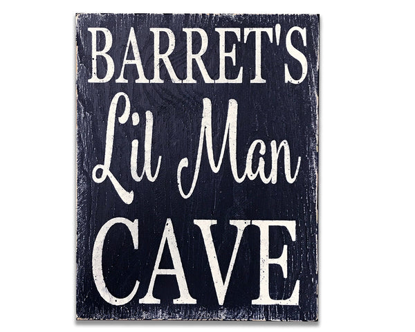 lil man cave personalized nursery wall decor