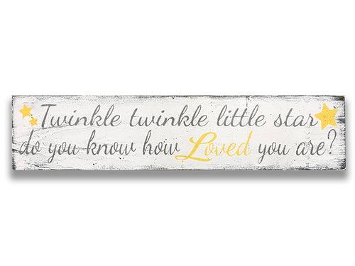 Twinkle Twinkle Little Star Boys Nursery Sign