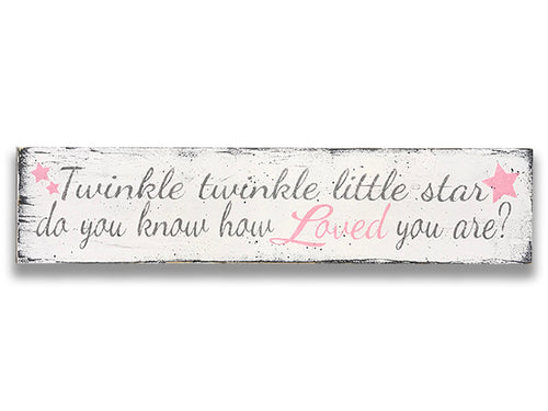 Twinkle twinkle little star girls nursery wall decor