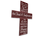 thank you for the food before us dining room wall decor in shape of a cross