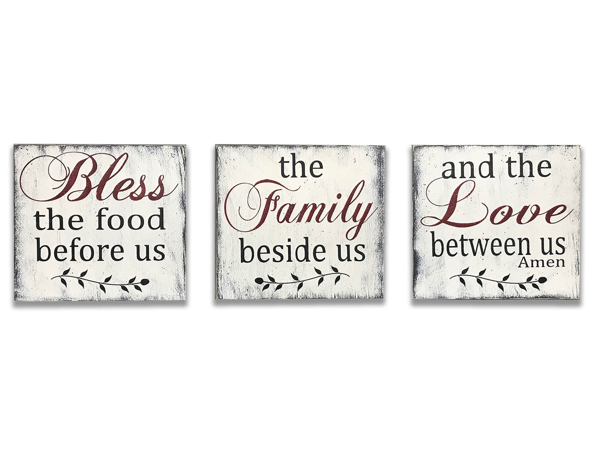 Bless The Food Kitchen Wall Decor Rusticly Inspired Signs