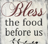 bless the food before us wood wall sign 3 pc set modern farmhouse wall decor