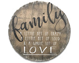 family sign rustic