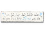 Twinkle Twinkle Little Star Nursery Wall Sign
