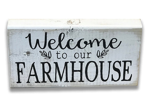 Farmhouse Wood Box Signs