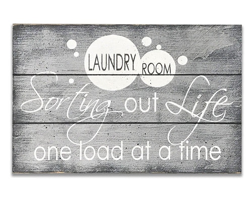 Sorting Out Life One Load At A Time Laundry Room Sign