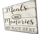 Meals And Memories Are Made Here Dining Room Kitchen Wall Decor