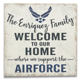 Welcome To Our Home Military Wood Sign