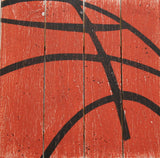 square basketball wall sign kids room