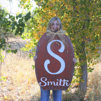 Personalized Pumpkin Wood Sign Fall Autumn Decor