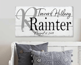 Personalized Name Sign with Initial Wall Decor