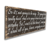The Notebook Wood Wall Sign