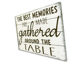The Best Memories Are Made Gathered Around The Table Dining Decor