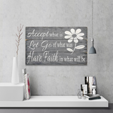 Accept What Is Let Go Of What Was Inspirational Wall Decor Christian gifts