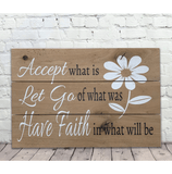 Accept What Is Inspirational Wood Wall Decor