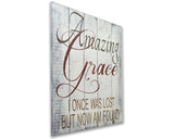 amazing grace christian wall art inspirational wooden sign