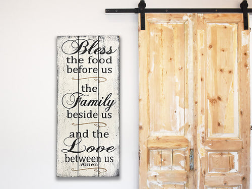 Bless The Food Before Us Wood Dining Room Decor