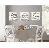 Bless The Food Before Us Wood Dining Room Wall Decor