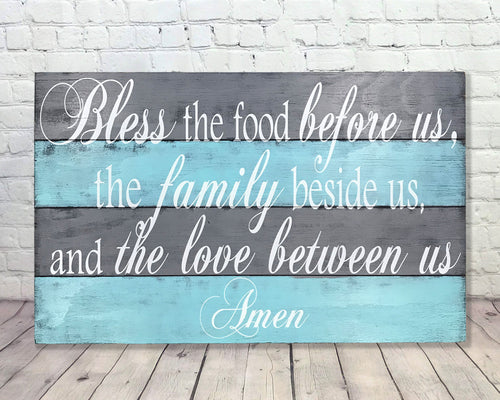 Bless The Food Before Us Dining Room Wood Wall Decor