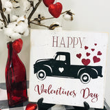 Happy Valentines Day Vintage Truck Sign