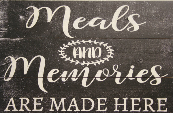Meals And Memories Are Made Here Kitchen Wall Decor
