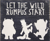 let the wild rumpus start boys nursery wall sign