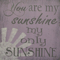 You Are My Sunshine Girls Nursery Wall Art