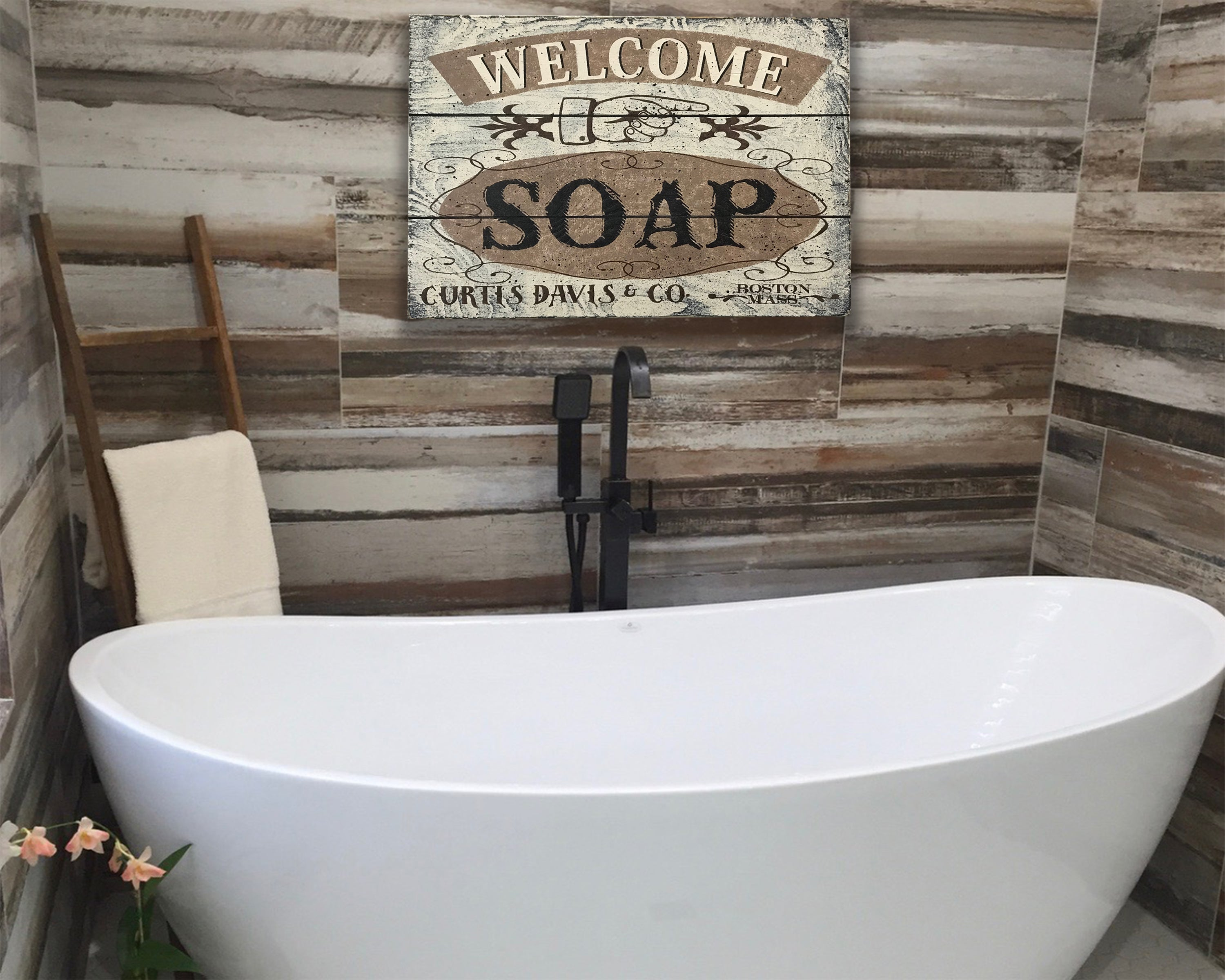 Rustic Farmhouse Wood Bathroom Sign Rusticly Inspired Sigs Rusticly Inspired Signs