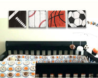 sports themed nursery wall decor set of 4