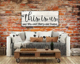 this is us wooden rustic wall sign family room wall decor