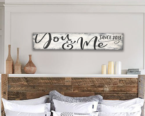 you and me wall sign