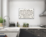 It's In The Kitchen Wood Wall Sign Wall Decor