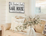 Lake House Personalized Family Name Sign