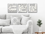 Amazing Grace Wood Sign Set