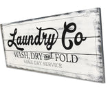 Laundry Co Wash Dry And Fold Laundry Room Wall Art