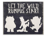 let the wild rumpus start boys nursery wall art