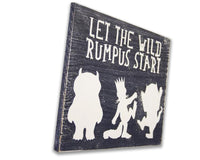 let the wild rumpus start boys nursery wood sign