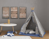Lil Man Cave Be Brave & Adventure Begins Boys Nursery Decor