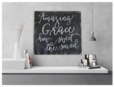 amazing grace how sweet the sound wood sign Christian wall art