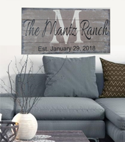personalized wall art custom wood signs for ranch
