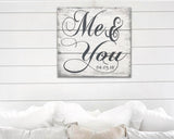 Me And You Wood Sign Personalized with Date