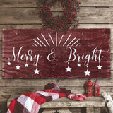Merry And Bright Decoration Christmas Wall Decor