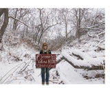 O Come Let Us Adore Him Rustic Wood Sign