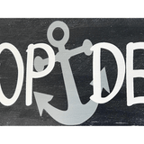 Poop Deck Wood Sign Nautical Nursery Decor