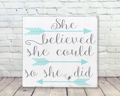 She Believed She Could So She Did Girls Kids Room Decor