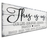 This Is Us Wood Wall Sign Personalized Name Sign