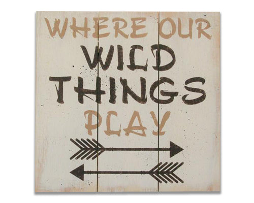 where our wild things play playroom wood wall decor