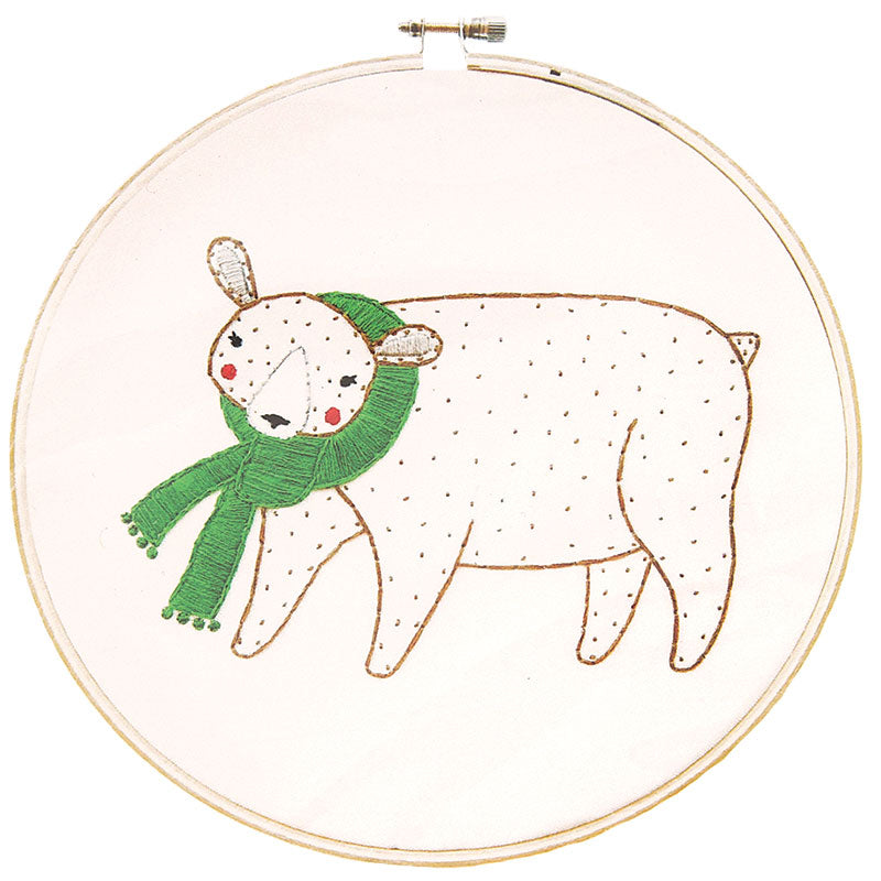 Merriment - Embroidery Sampler Bear